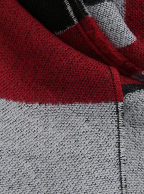 Červeno-čierny pruhovaný šál Pieces Muse
