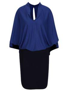 Modré šaty s voľným topom s netopierími rukávmi La femme MiMi