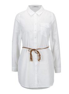 Biela dlhá košeľa s opaskom Haily´s Larissa
