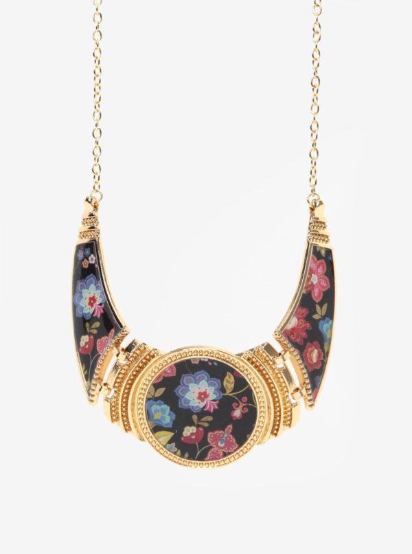 Kvetovaný náhrdelník v zlatej farbe Desigual