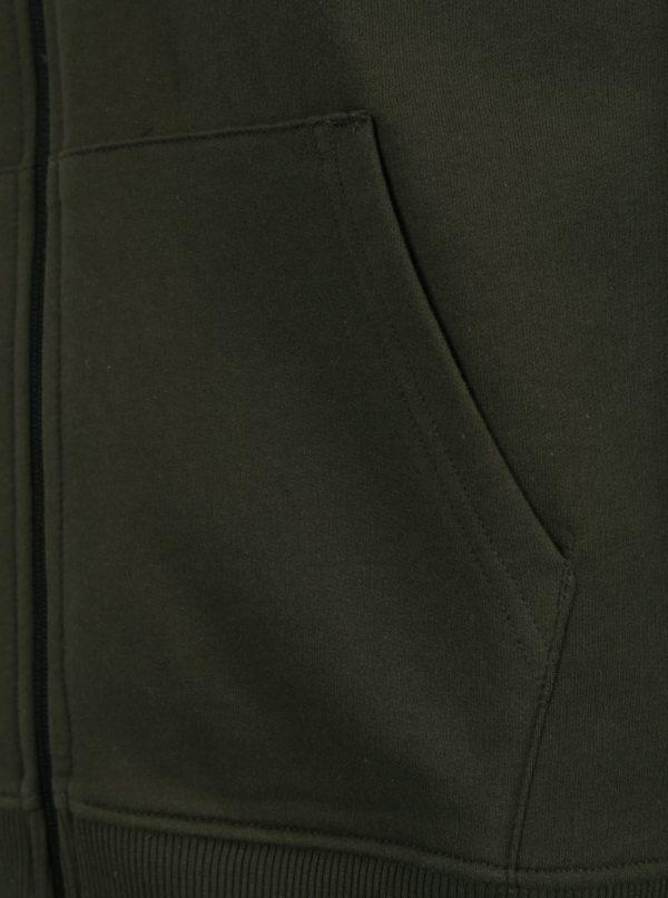 Tmavozelená mikina na zips Burton Menswear London