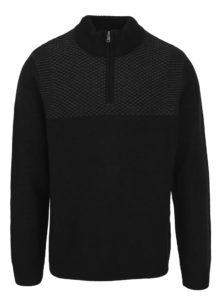 Sivo-čierny sveter so stojačikom Burton Menswear London