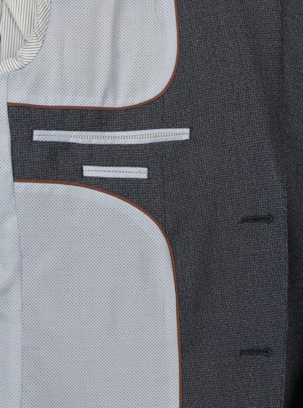 Modré oblekové skinny sako s jemným vzorom Burton Menswear London
