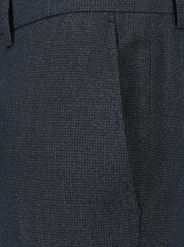 Modré oblekové skinny nohavice s jemným vzorom Burton Menswear London