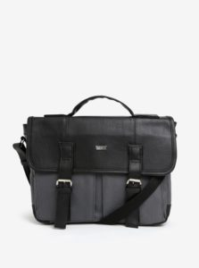 Čierno-sivá pánska taška Solier