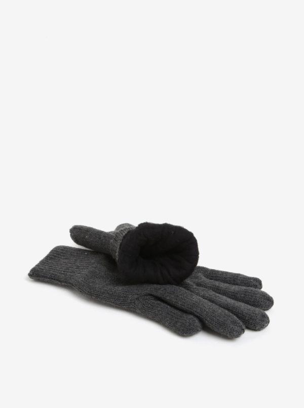 Tmavosivé rukavice Burton Menswear London