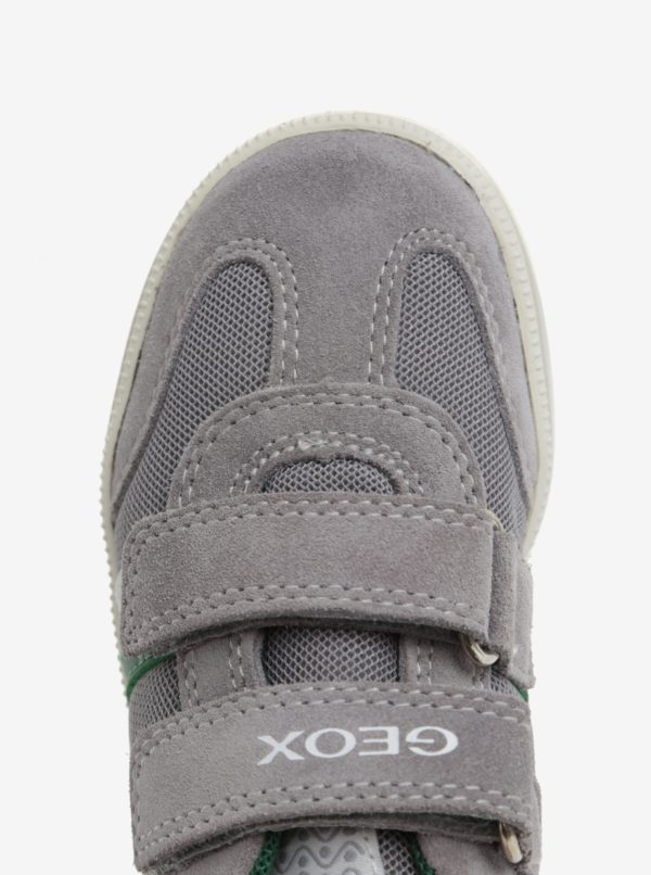 Sivé chlapčenské semišové tenisky Geox Vita