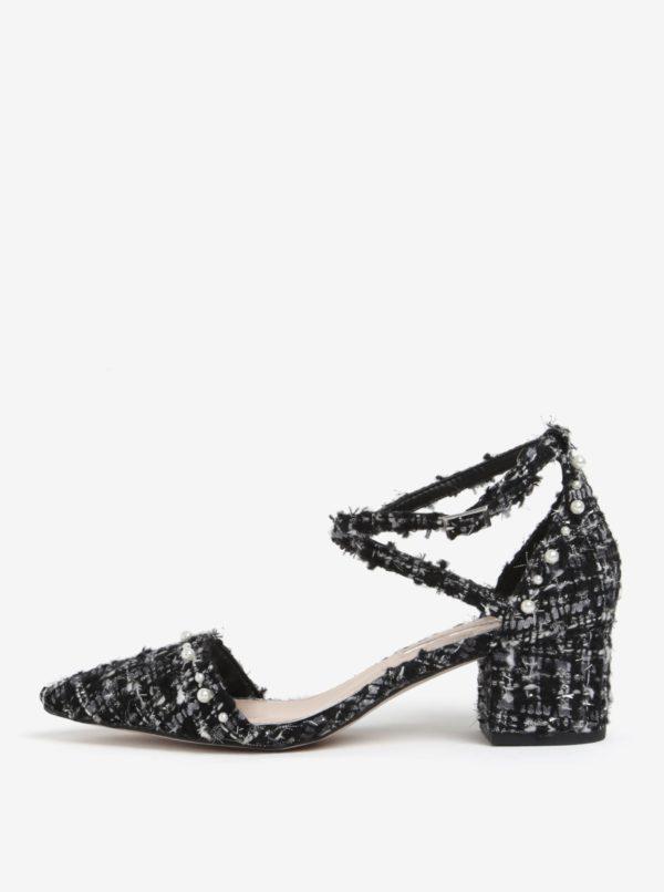 Bielo-čierne štruktúrované sandále Miss KG Ava