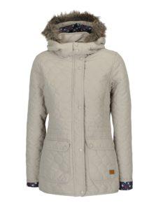 Béžová prešívaná funkčná bunda s kapucňou M&Co