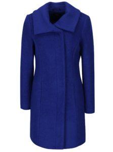 Modrý zimný kabát s prímesou vlny M&Co