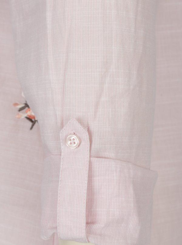 Svetloružová košeľa s výšivkami M&Co