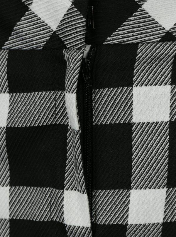 Bielo-čierna kockovaná minisukňa Miss Selfridge