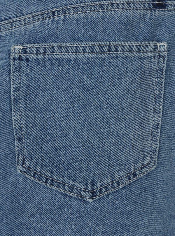 Modrá rifľová minisukňa na zips Miss Selfridge