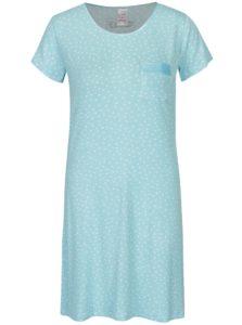 Svetlomodrá bodkovaná nočná košeľa M&Co