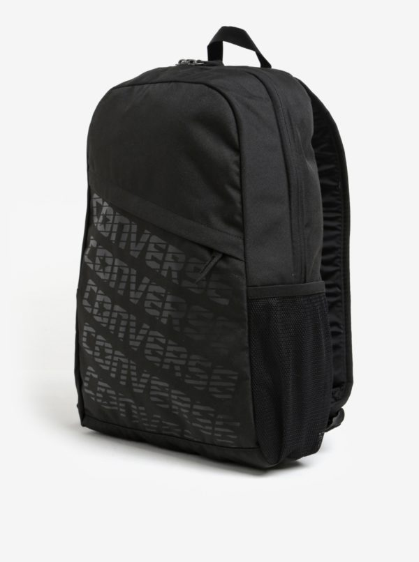 Čierny batoh s potlačou Converse Speed 20 l