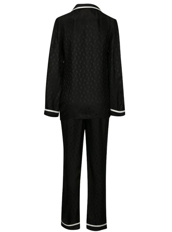 Čierne hodvábne pyžamo La femme MiMi