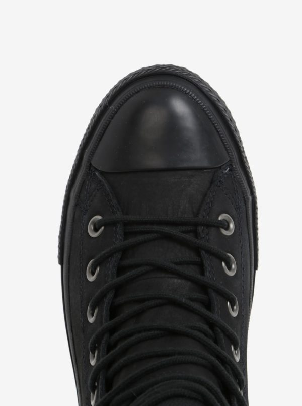 Čierne pánske kožené tenisky Converse Chuck Taylor Lunalron