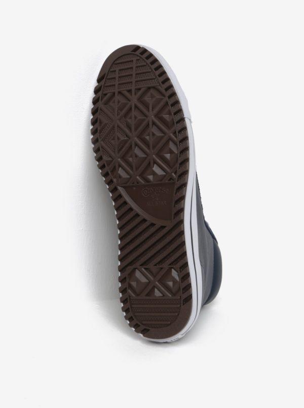 Tmavomodré pánske kožené tenisky Converse Chuck Taylor