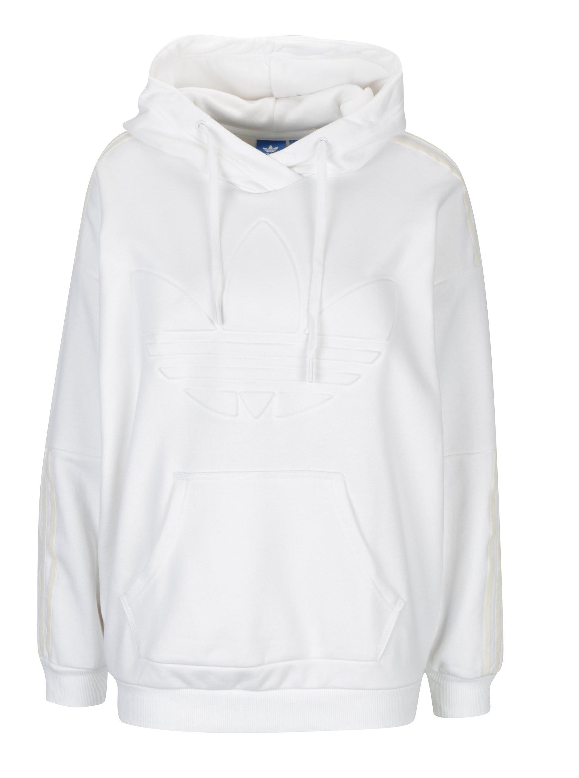 774ad81ba Biela dámska mikina s kapucňou adidas Originals   Moda.sk