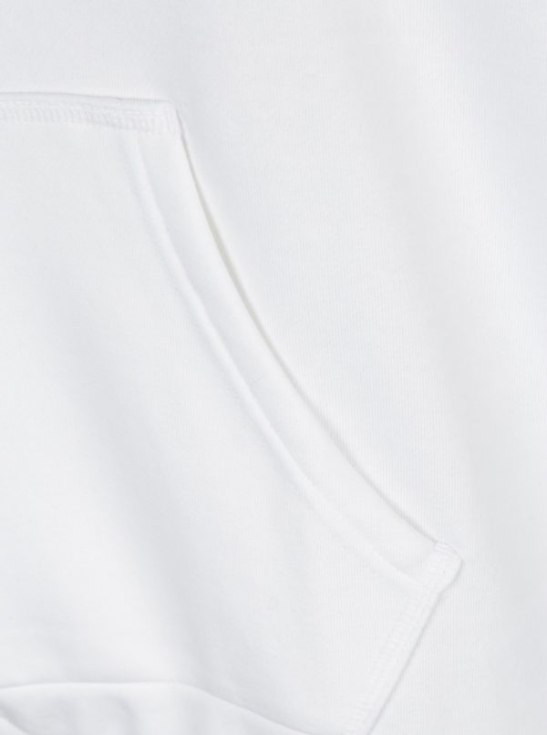 Biela dámska mikina s kapucňou adidas Originals