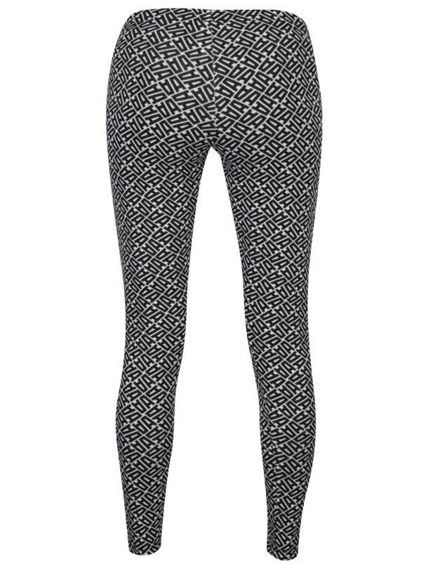 Bielo-čierne vzorované legíny adidas Originals