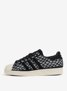 Bielo-čierne dámske semišové tenisky adidas Originals Superstar