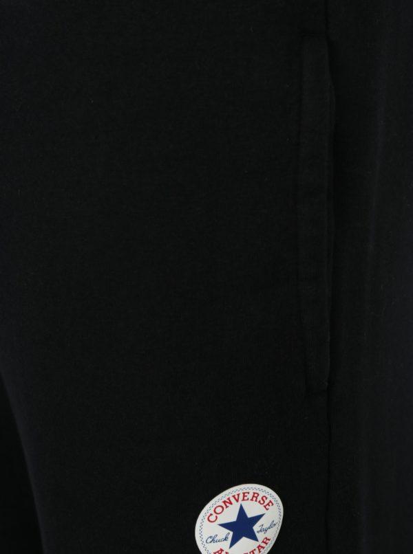 Čierne pánske tepláky s vreckami Converse Core