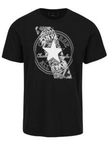 Čierne pánske tričko s krátkym rukávom Converse Chuckpatch