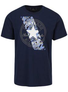 Tmavomodré pánske tričko s krátkym rukávom Converse Chuckpatch