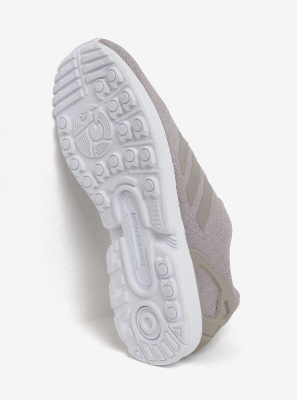 Béžové dámske tenisky s trblietavým efektom adidas Originals ZX Flux