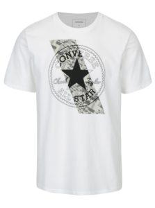 Biele pánske tričko s krátkym rukávom Converse Chuckpatch