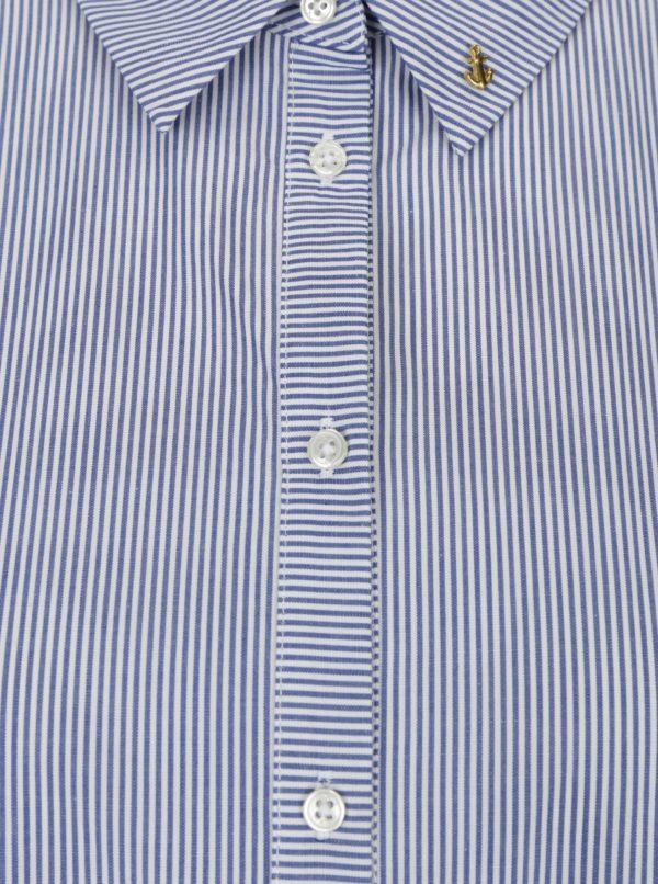 Bielo-modrá pruhovaná košeľa s 3/4 rukávom Scotch & Soda