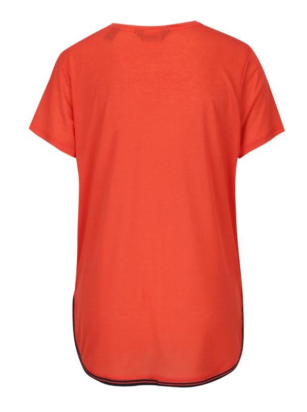 Červené tričko s pruhom na bokoch Scotch & Soda