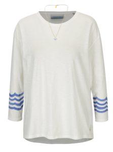 Krémové oversize tričko s potlačou na chrbte a retiazkou v zlatej farbe Scotch & Soda
