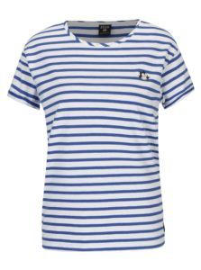 Modro-biele pruhované tričko s nášivkou Scotch & Soda