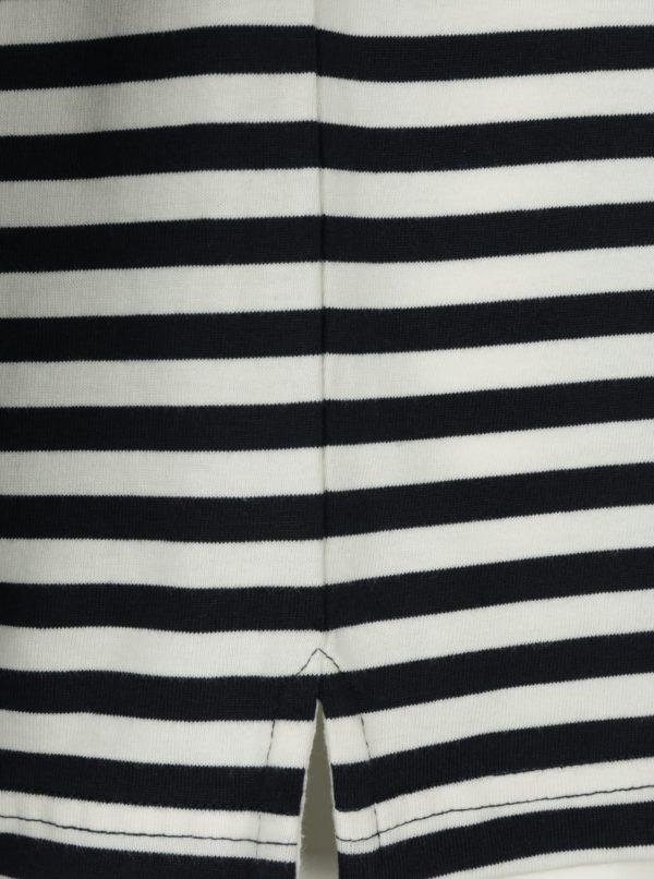 Bielo-modré pruhované tričko s dlhým rukávom Farah Trafford