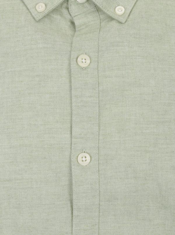 Svetlozelená melírovaná slim fit košeľa Farah Steen
