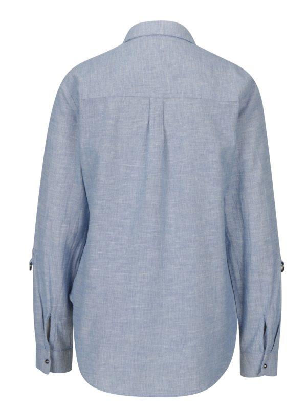 Svetlomodrá vzorovaná košeľa Dorothy Perkins