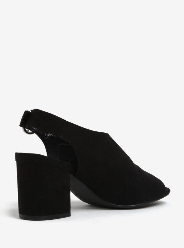 Čierne sandálky na širokom podpätku Dorothy Perkins