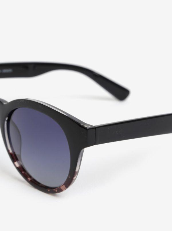 Hnedo-čierne dámske slnečné okuliare Pilgrim Kimana