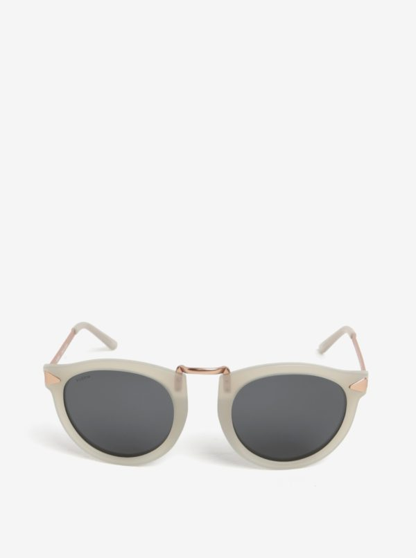 Krémové dámske slnečné okuliare s pozlátenými detailmi Pilgrim Kinsley