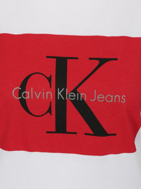 Biele dámske tričko s potlačou Calvin Klein Jeans
