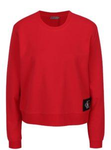 Červená dámska krátka basic mikina Calvin Klein Jeans