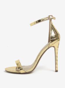 Sandále s hadím vzorom v zlatej farbe MISSGUIDED