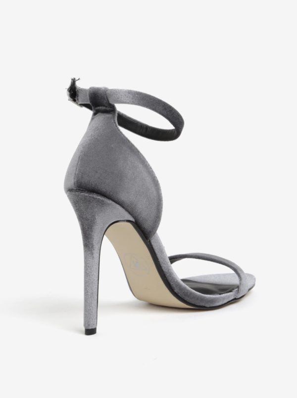 Sivé semišové sandále MISSGUIDED