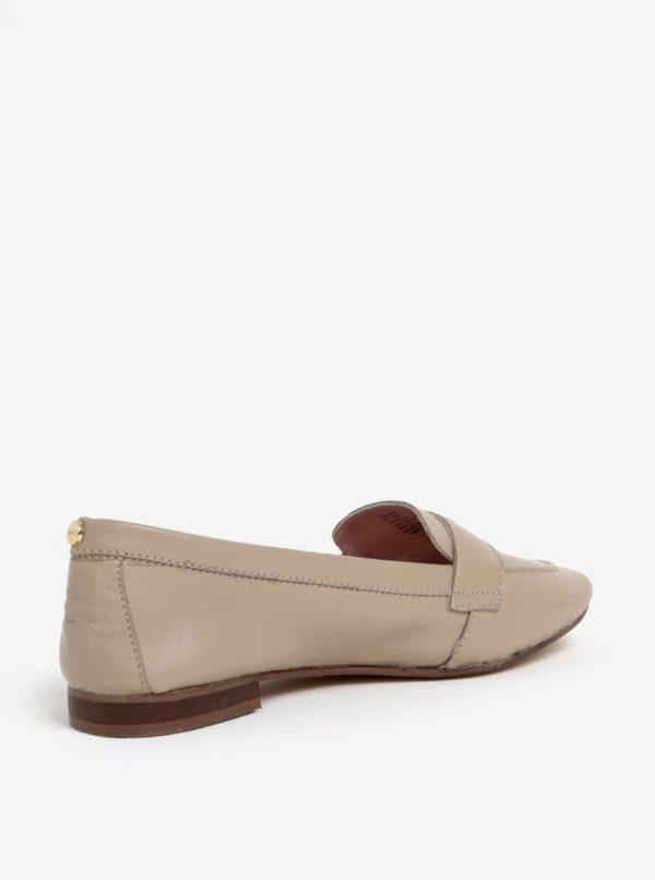 Béžové kožené mokasíny Dune London Loafer
