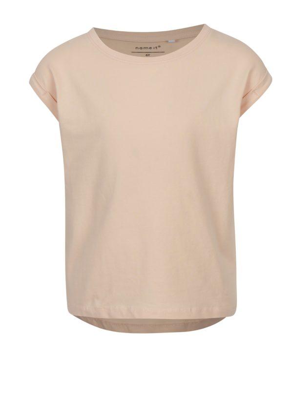Ružové dievčenské tričko s krátkym rukávom name it Vilda