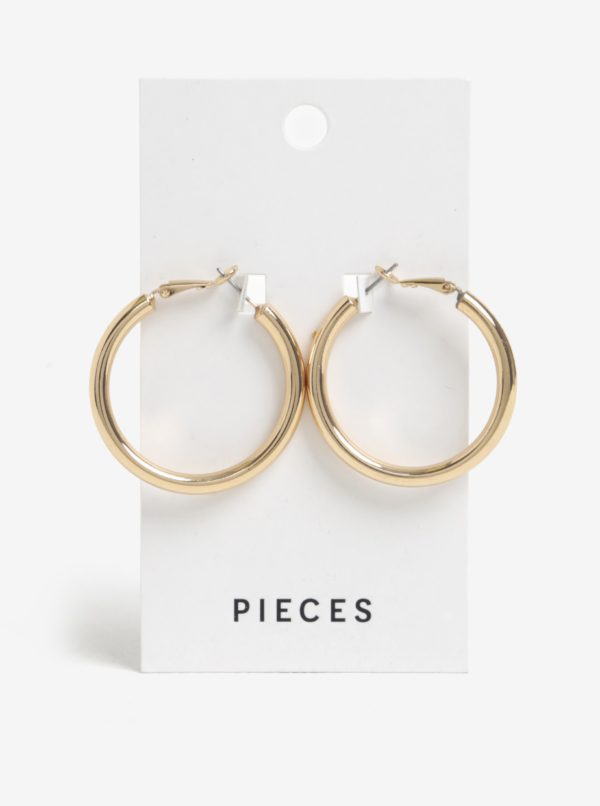 Kruhové náušnice v zlatej farbe Pieces Mara