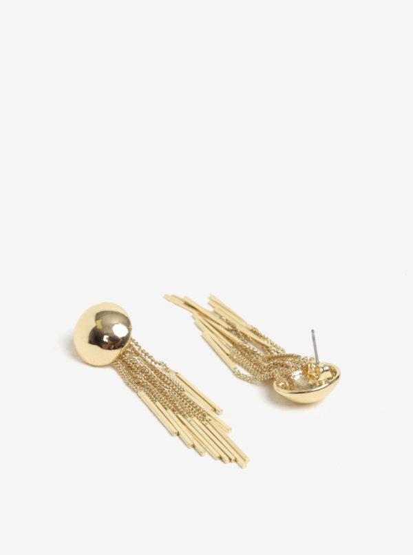 Nášunice so strapcom v zlatej farbe Pieces Victorine