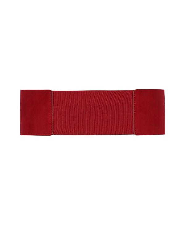 Červený široký opasok v semišovej úprave Pieces Monia